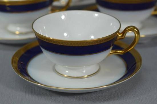 大倉陶園 瑠璃片葉金蝕 カップ&ソーサ 6客組入荷しました。